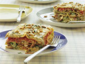 Vegetarian Lasagna with Mushrooms recipe