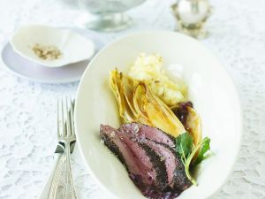 Venison with Port Wine Sauce and Endives recipe