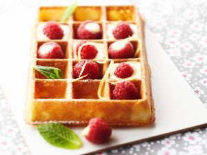 Waffles with Lemon Sauce and Berries recipe