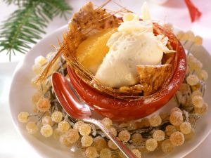 White Chocolate Mousse with Hazelnut Brittle recipe