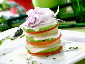 White Fish and Salad Stack recipe