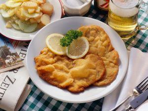 Wiener Schnitzel with Potato Salad recipe