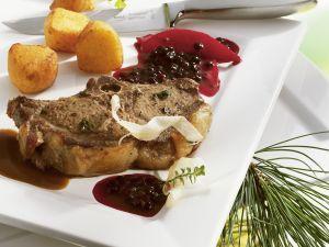 Wild Boar Chops with Elderberry Sauce recipe