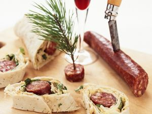 Wraps with Chorizo ​​Cabbage Filling recipe