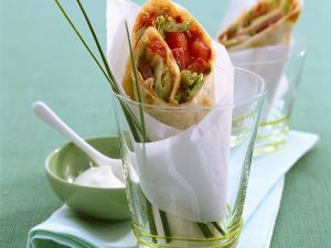 Wraps with Spicy Salad Filling recipe