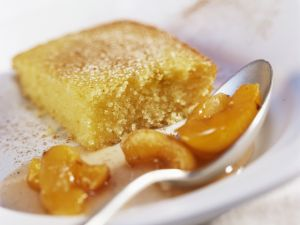 Yogurt Semolina Cake with Apricot Sauce recipe
