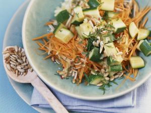 Zucchini and Carrot Salad with Apples and Sunflower Seeds recipe