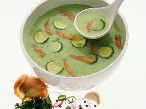 Zucchini Soup with Smoked Salmon recipe