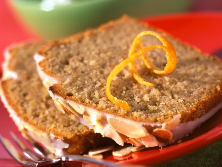 Almond Spice Cake with Orange Glaze