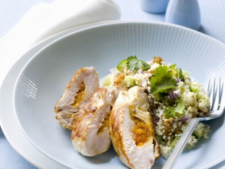 Apricot Stuffed Chicken Breast and Couscous recipe | Eat ...