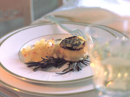 Baked Goat Cheese with Apple Confit
