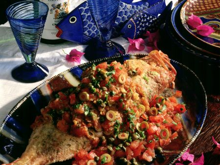 Baked Redfish with Spicy Tomato Sauce