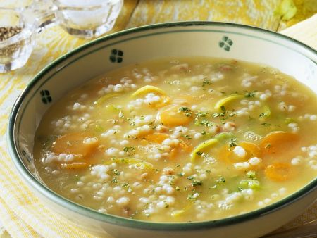 Barley-Vegetable Soup recipe | Eat Smarter USA
