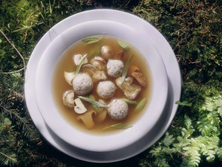 Bean and Mushroom Soup with Dumplings recipe | Eat Smarter USA