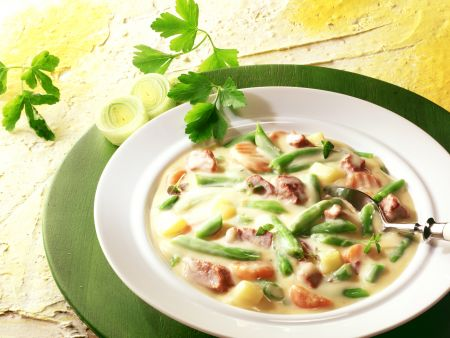 Beef and Vegetable Stew with Cream Sauce