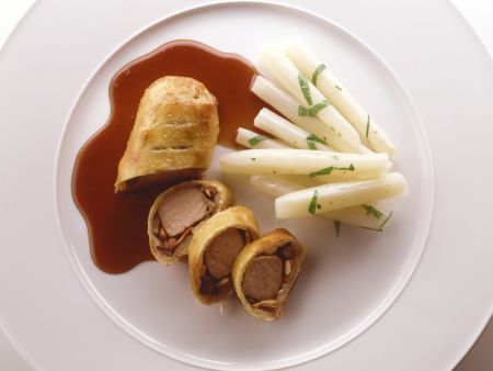 Beef Fillet in Puff Pastry with Wild Mushrooms