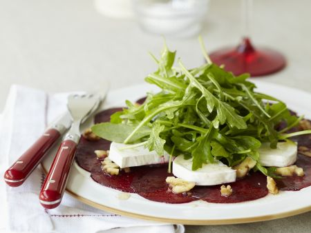 Beet Carpaccio with Goat Cheese and Arugula recipe | Eat ...