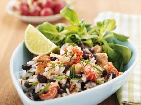 Black Bean Rice with Shrimp recipe | Eat Smarter USA