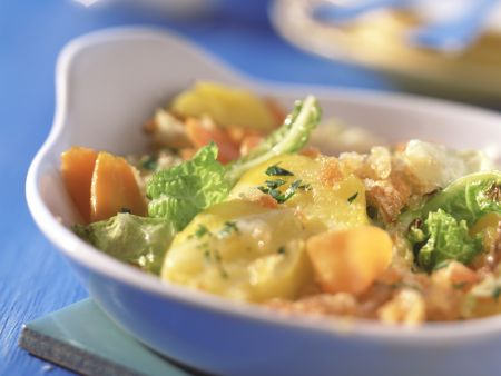 Cabbage and Carrot Gratin