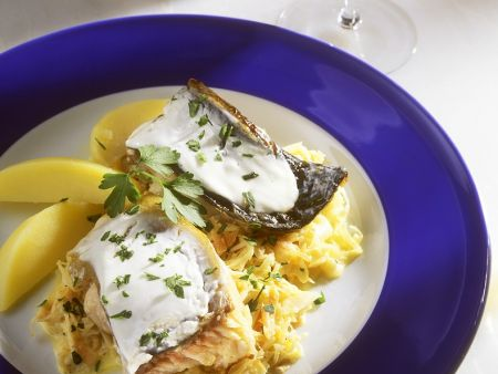 Carp with Sauerkraut