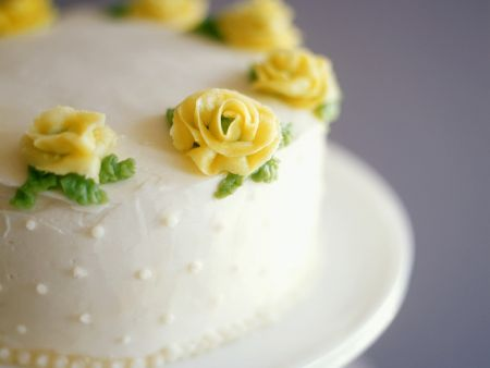 Champagne Lemon Cake with Flowers