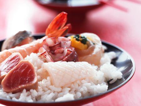 Chirashi Sushi with Fish