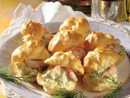 Choux Puffs with Crab Salad