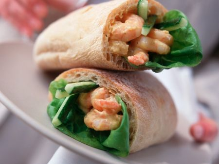 Ciabatta with Shrimp Salad Filling