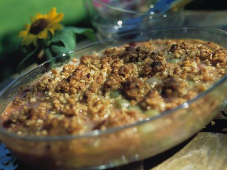 Coconut and Pear Crumble