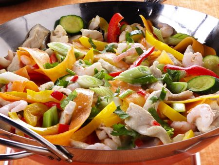 Coconut Vegetables with Chicken and Shrimp
