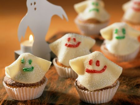 Cranberry Muffins with Marzipan Ghosts