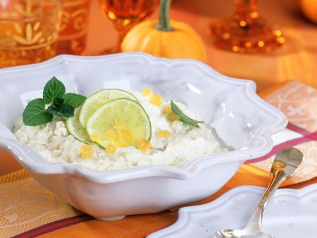 Creamy Coconut Rice with Candied  Ginger