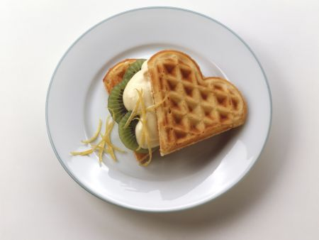 Crispy Lemon Waffles