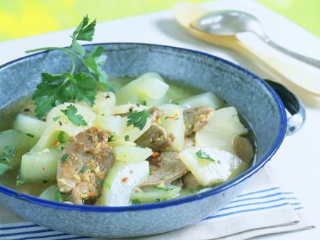 Curried Cucumbers with Pork