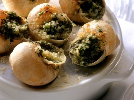 Escargot with Herbs and Butter