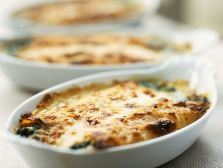 Fish and Spinach Gratin