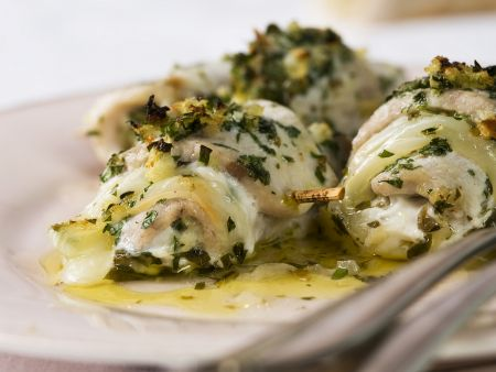 Fish rolls with herb stuffing recipe eat smarter usa for Aromatic herb for fish