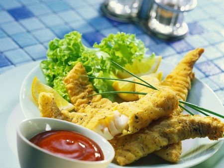 Fried fish nuggets with cornmeal crust recipe eat for Cornmeal fried fish