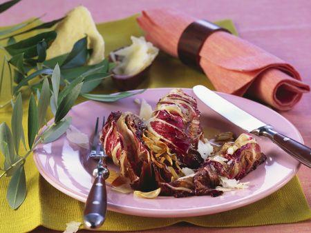 Fried Radicchio with Garlic