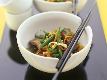 Green Bean and Beef Stir-fry
