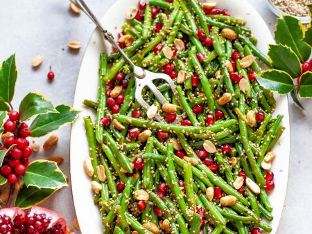 Green Bean Salad with Pomegranate and Peanuts