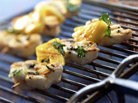 Grilled Monkfish Skewers