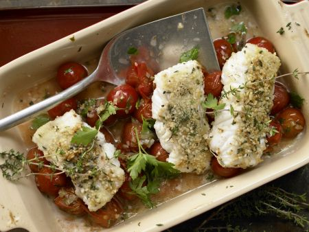 Fish Fillets with Almond Crust