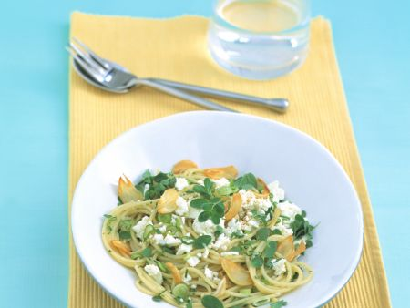 Herb Pasta with Feta Cheese