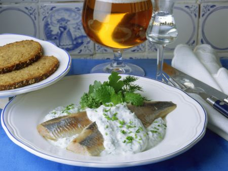 Herring with Herb Cream Sauce