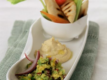 Homemade Hummus and Guacamole