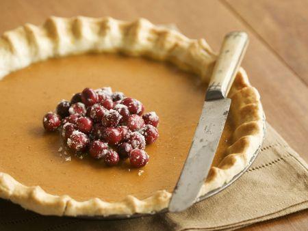Cranberry and Pumpkin Pie