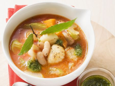 Italian Vegetable Soup With Gnocchi Recipe Eat Smarter USA - Italian vegetable soup