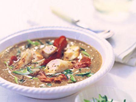 Lentil Soup with Rabbit Loin