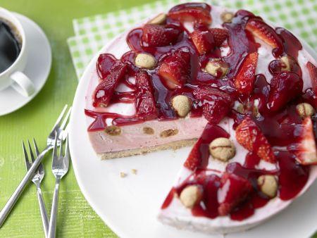 Marbled Strawberry Cake